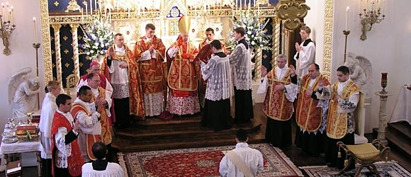 Bishop Dolan during an ordination